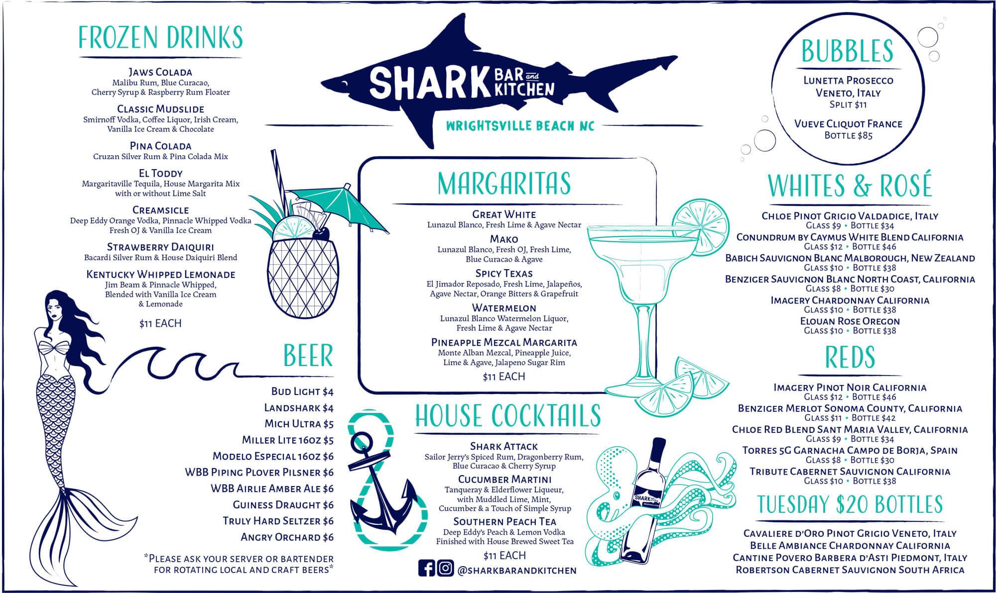 Shark Bar Fall Drink Menu