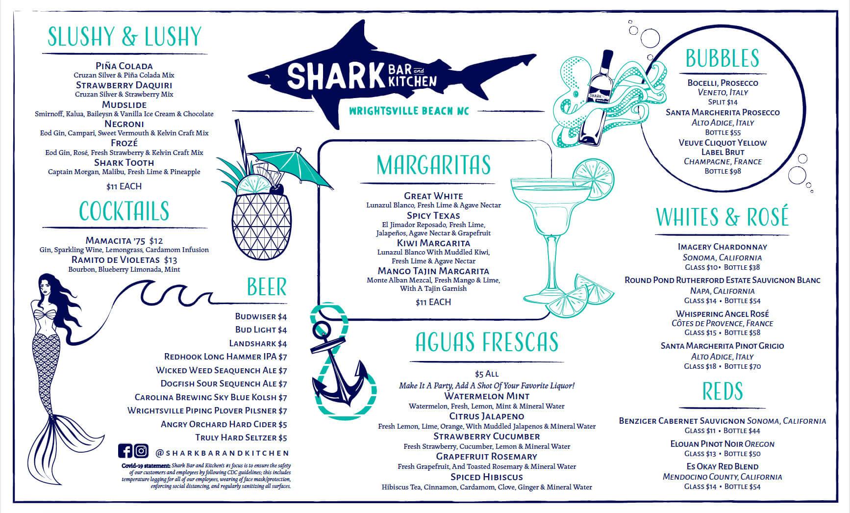 Shark Bar Drink Summer Menu 2021